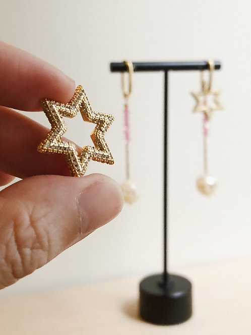 Starry you earrings - Pink