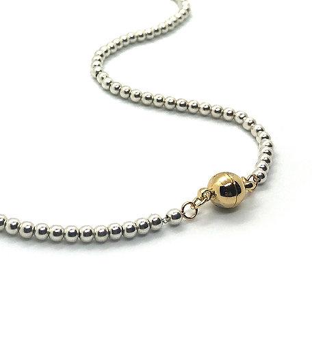 Everyday Collar - Silver Beads