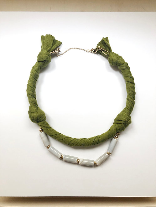Fabric choker - Green