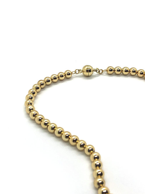 Everyday Collar - Gold Beads