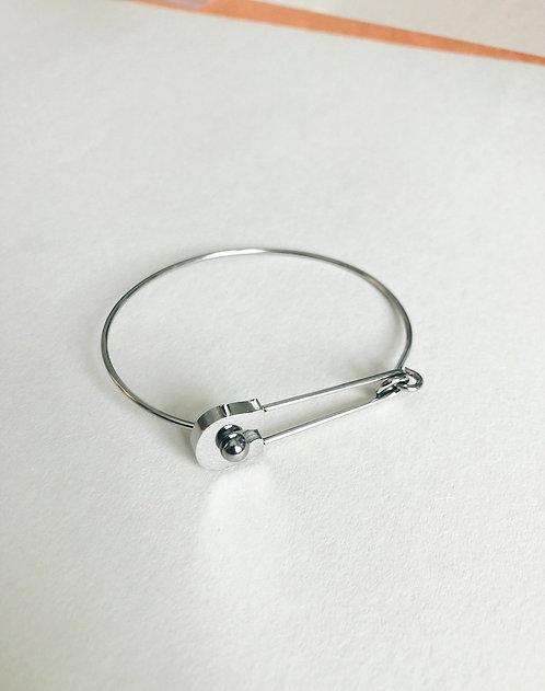 Pin Bangle - silver