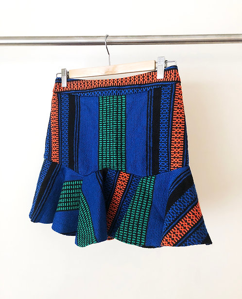 Textured Muti Color Skirt
