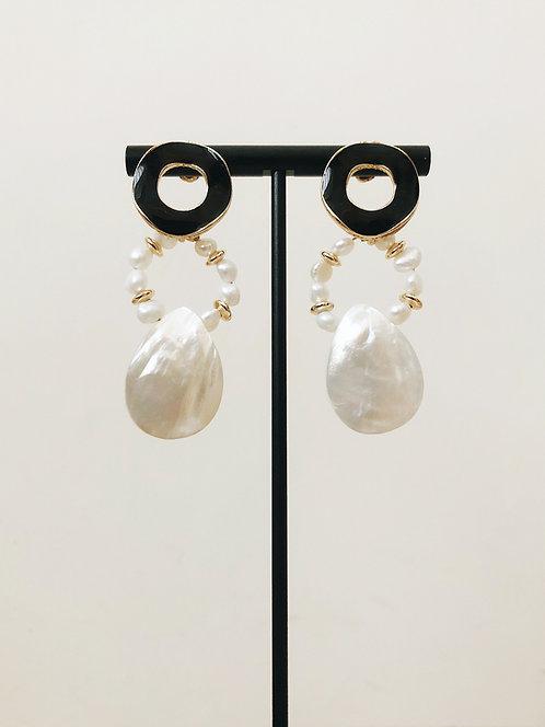 Tri-Circle Drop Earrings