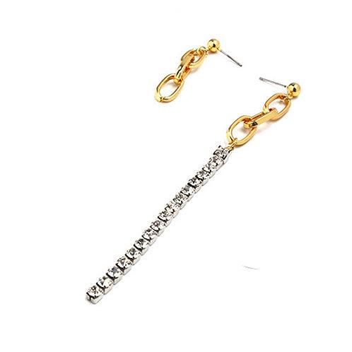 Chain Rhinestone Drop Earrings