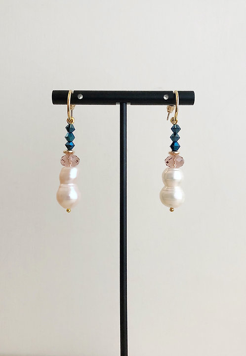 Dawn Pink Drop Earrings