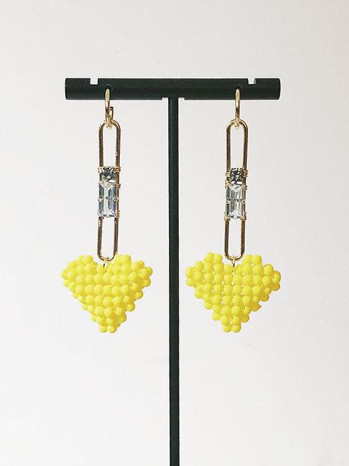 Rhinestones Heart Earrings
