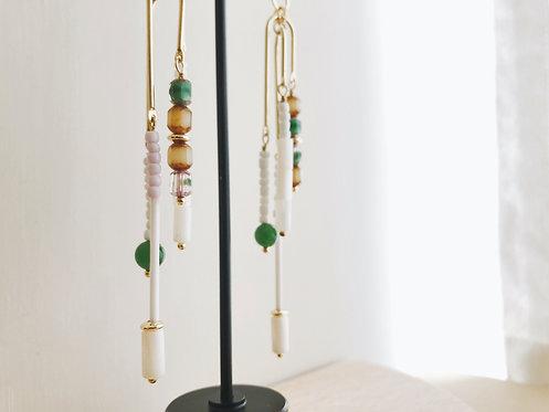 Wind-chime Earrings - Green