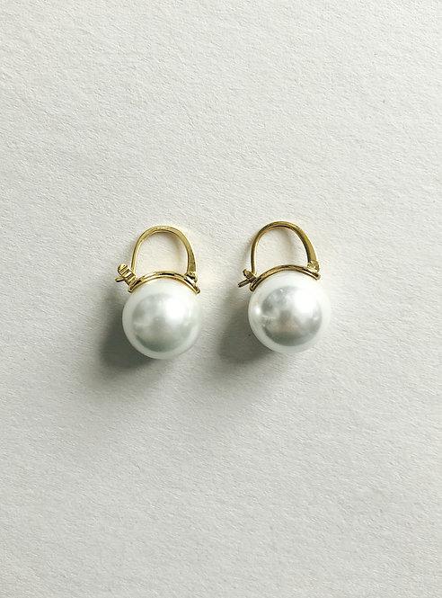 Pearl simple earrings (GOLD)