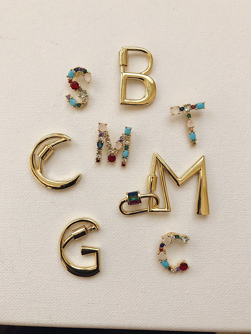 Mixed Initial Lock necklace (pre- order)