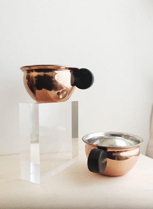 Vintage Espesso Copper Mug Set