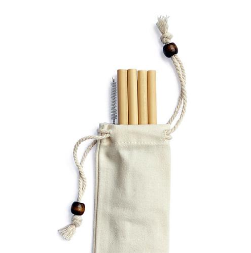 GOOP Bamboo Straws, Set of 4