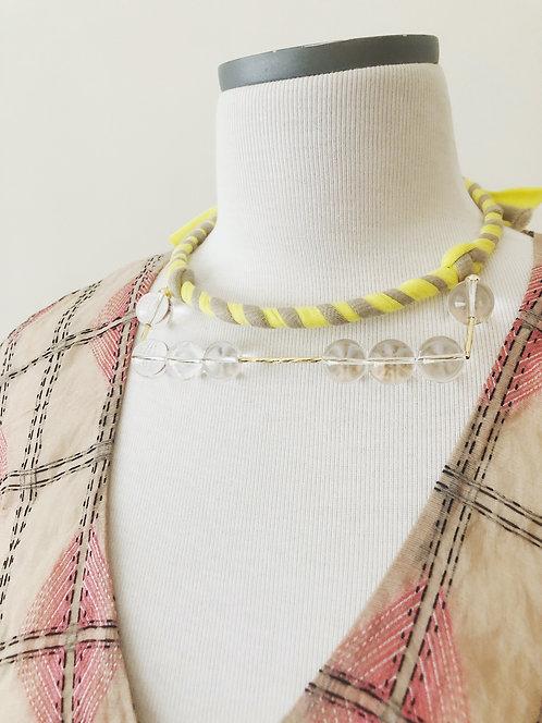 Fabric choker - Yellow Stripe