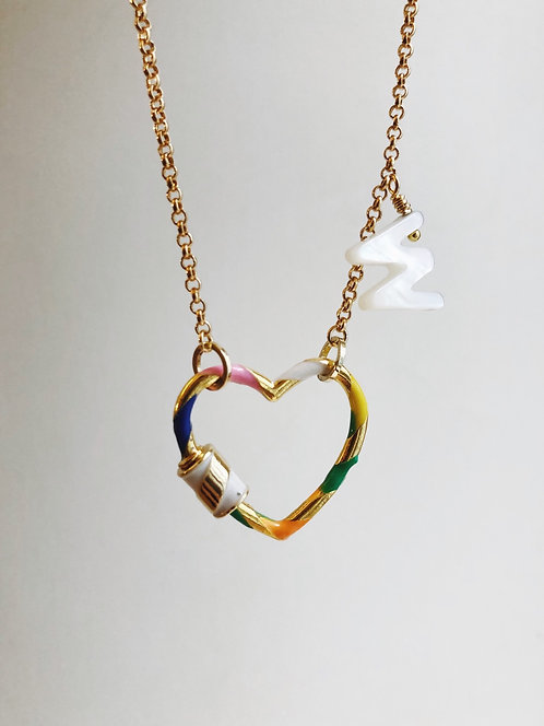 Love lock initial necklace (BACK IN STOCK)