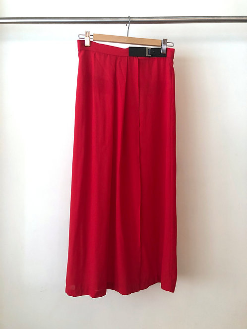 Lightweight Red Long Skirt