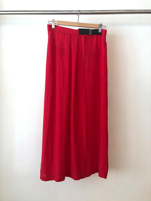 Lightweight Red Long Skirt