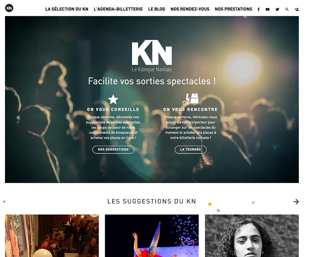page accueil Kiosque Nantais