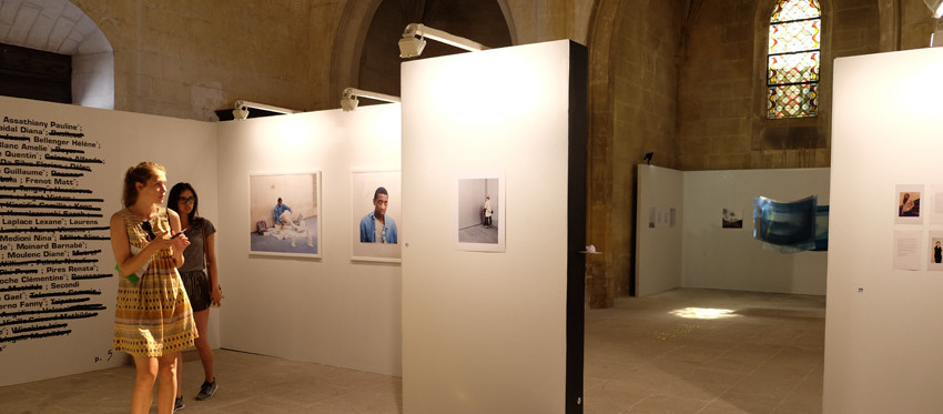 scénographie de l'exposition WIP 2016