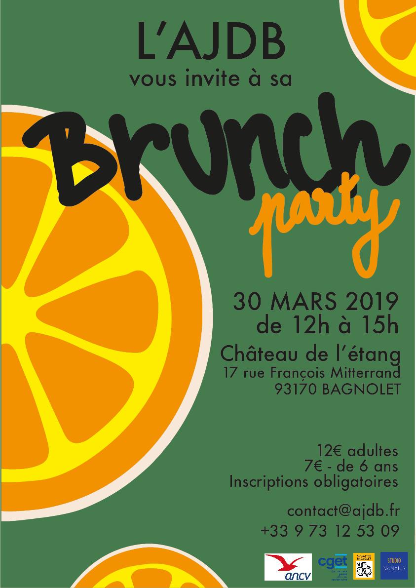 affiche brunch party ajdb studio nanana