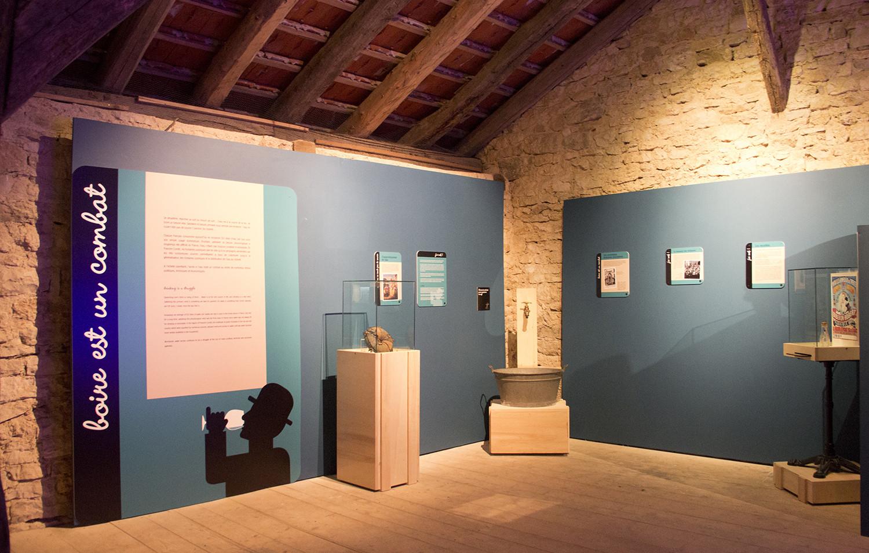 CONCEPTION ET SCENOGRAPHIE DE L'EXPOSITION BOIRE AU MUSEE DES MAISONS COMTOISES