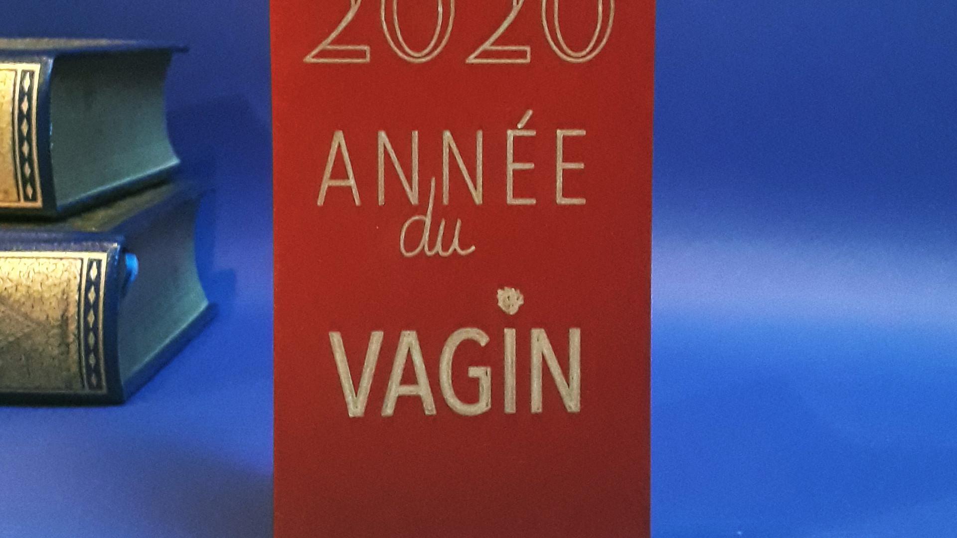 """Carte Pulp 2 doré """"2020 année du Vagin"""""""