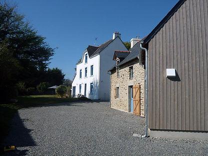 renovation et extension pierre ossature bois moelan sur mer