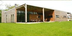 maison neuve ossature bois architecture moderne