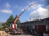 chantier extension bois