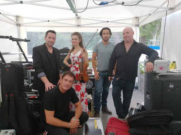 Calipsa et ses musiciens au festival Le Grandchamp'Bardement