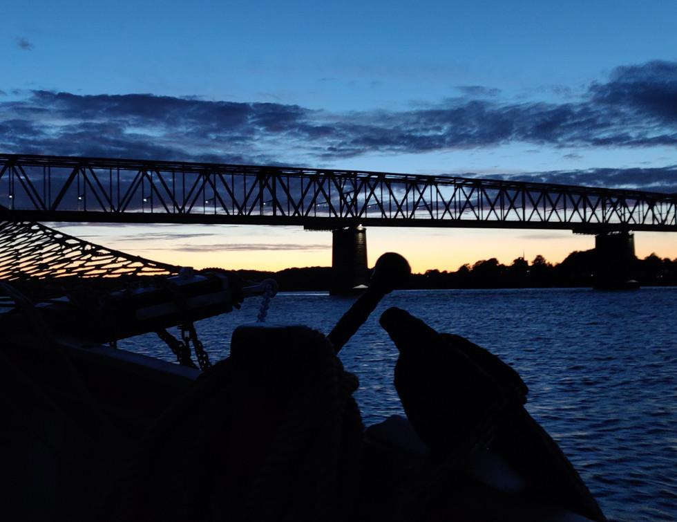 Sejlskibet FREM - Lillebæltsbroen