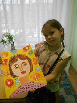 Настя. Портрет мамы.