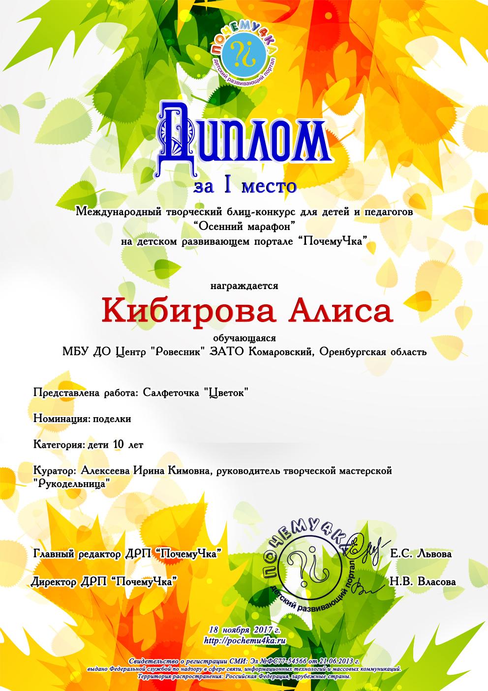 Кибирова Алиса