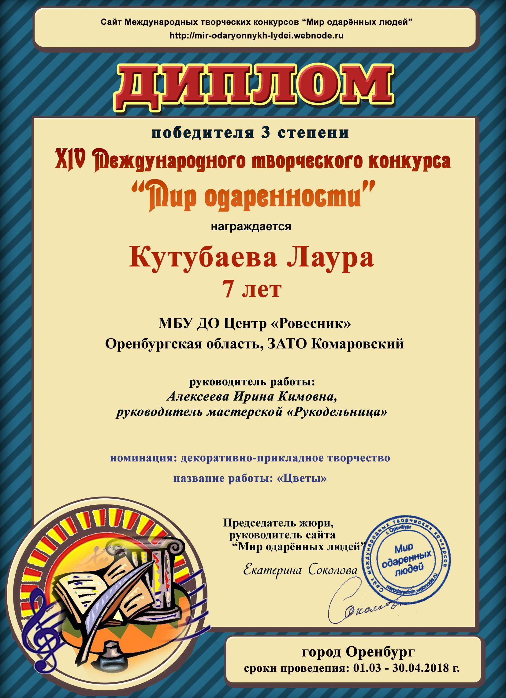 Кутубаева Лаура