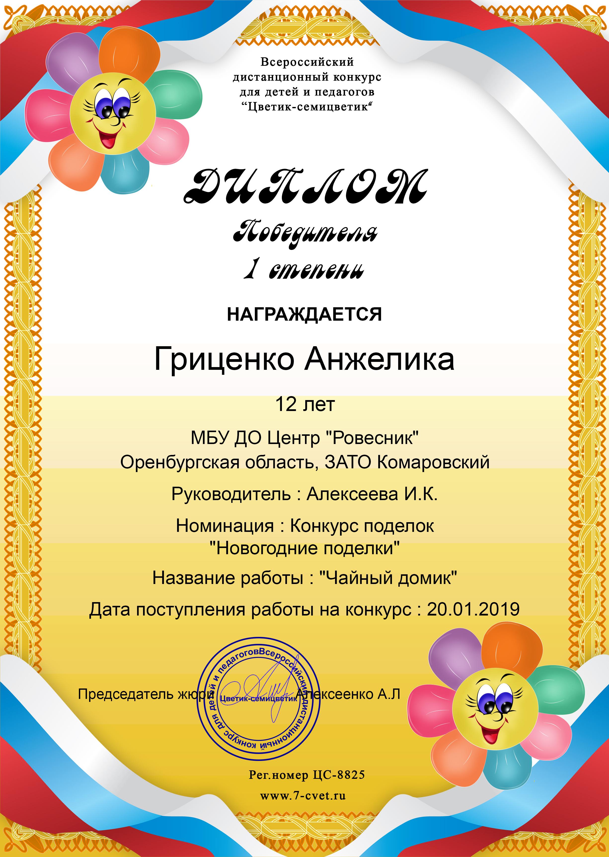 Гриценко Анжелика