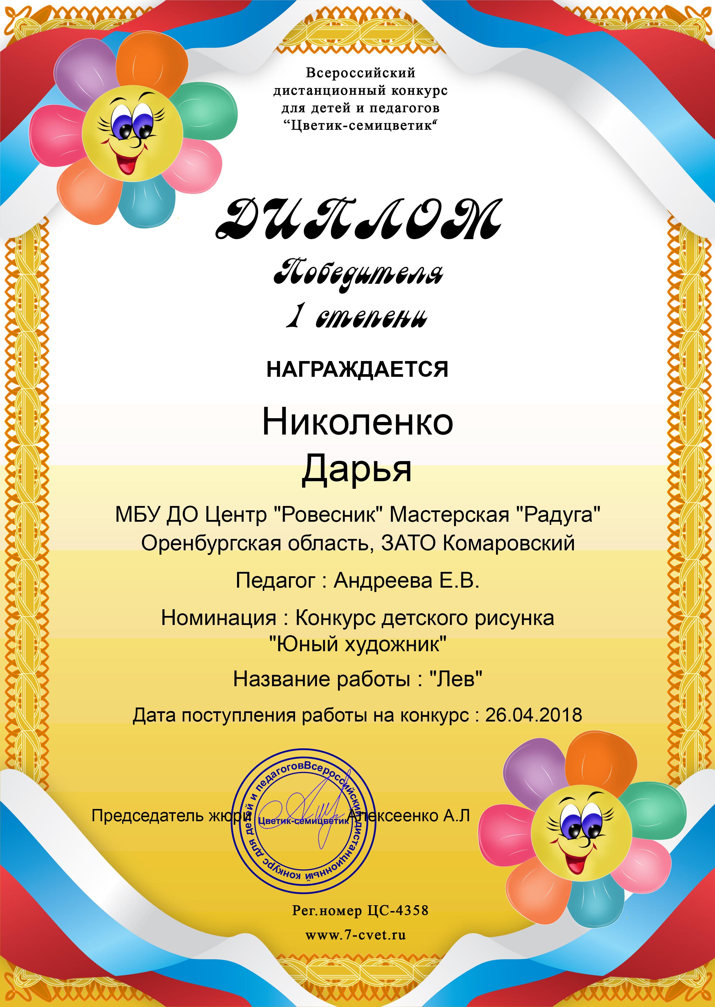 Николенко Дарья