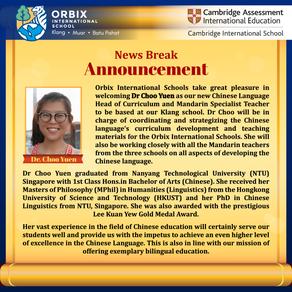 Welcoming Dr Choo Yuen !