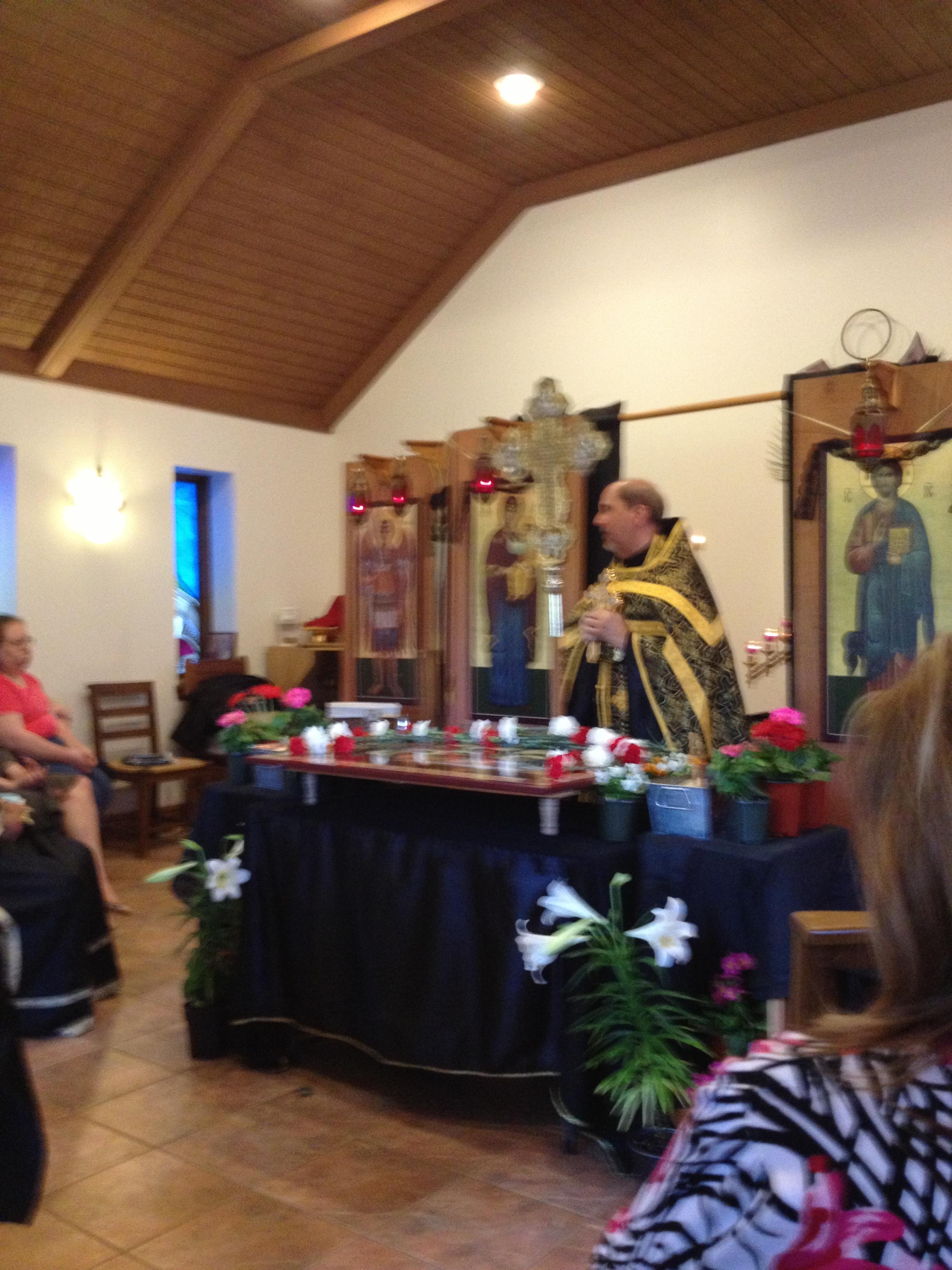 Fr. Basil giving a homily 2013