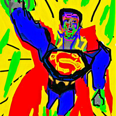 Bermano Superman 4ox 30 inches Acrylic o