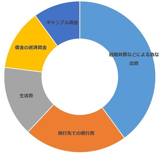 クレジットカード現金化を利用した理由,回答集計グラフ