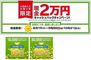 クレジットカード現金化のクレジットチェンジのキャンペーン情報
