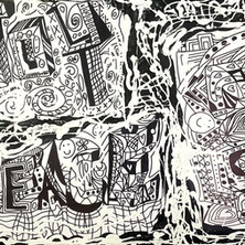 Bermano Joy Love Peace 30 x 40 inches Acrylic on canvas