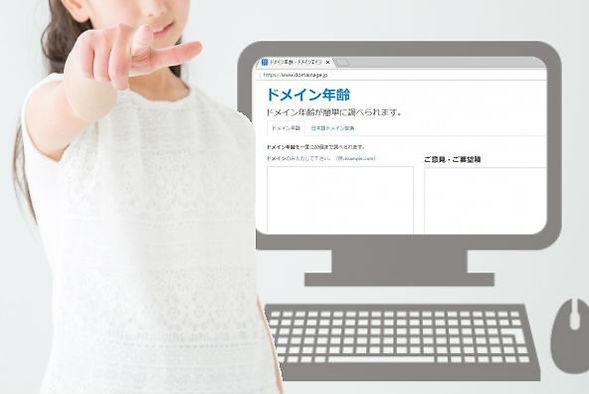 ドメイン年齢検索画面