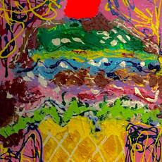 Bermano Breathe 40 x 30 inches Acrylic o