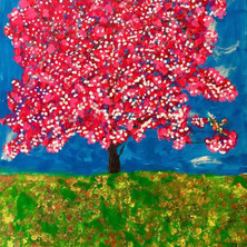 Bermano Cherry Blossom 60 x 48 Inches Acrylic on canvas