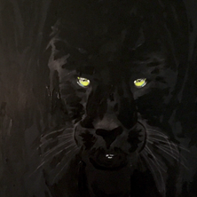 Bermano Panther 40 x 30 Inches Acrylic on canvas