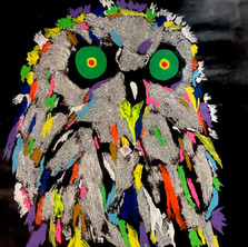 Bermano Owl 40 x 30 Inches Acrylic on canvas