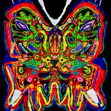 Bermano Lion Fly 7 x 5 Feet Acrylic on canvas