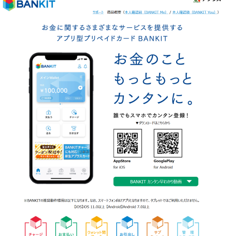 BANKIT・バンキットカード現金化