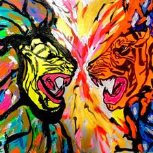 Bermano Who Wins 40 x 30 inches Acrylic