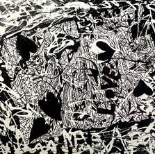 Bermano Joy Love Peace 30 x 30 inches Acrylic on canvas