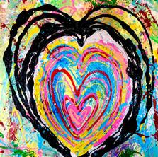 Bermano In Love 40 x 30 inches Acrylic o